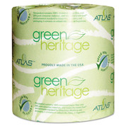 Green Heritage Toilet Paper 4.5 x 3.8 Sheets, 1-Ply 1000/Roll, Case of 96