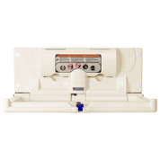 Foundations 5211089 Horizontal Changing Station with Backer Plate, Cream