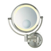 Conair BE11WD Wall Mount Lighted Mirror Brushed Nickel, Direct Wire