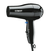 Conair 047BW 1600 Watt Hair Dryer, Black