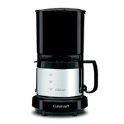 Cuisinart 4-Cup Coffee Maker, Black, Brushed Stainless Carafe
