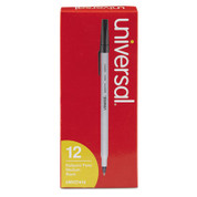 Universal Economy Ballpoint Stick Oil-Based Pen, Black Ink, Medium, Dozen