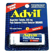 Advil Tablets, 10 Count Vial Pocket Pack, 12/Ctn