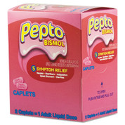 Pepto Bismol Tablets, Two-Pack, Carton of 25