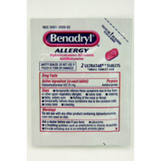Benadryl Allergy UltraTabs Travel Pack Two-Tablet, Case of 60