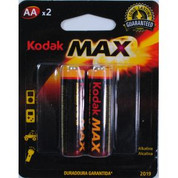 Kodak MAX Alkaline Batteries AA, 2 Pack, 12/Ctn
