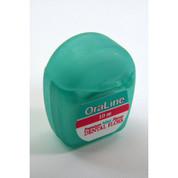 OraLine Dental Floss, Mint, 10 meters Travel Size 72/Ctn
