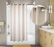 PreHooked™ Nylon Shower Curtain, 71x77, 12 per Case, Price Per Each