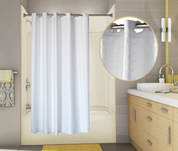 PreHooked™ Tracks Shower Curtain, 71x74, 12 per Case, Price Per Each