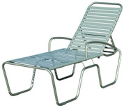 "Sanibel Strap Seat-Height Chaise Chair, 18"", with Armrests"