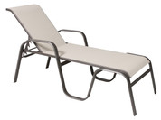 "Maya Sling 18"" Seat Height Chaise Lounge, Stackable"