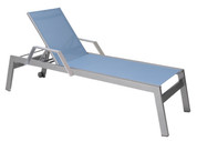 Vectra Rise Chaise Lounge with Arms & Wheels