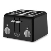 Stay by Cuisinart 4-Slice Toaster, Black