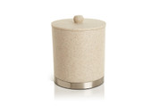 Alistaire Sandstone Resin Ice Bucket with Stainless Steel Base, 2 Quarts