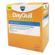 DayQuil® Cold & Flu Caplets, Daytime, Severe Cold & Flu, 25 Packs/Box