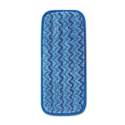 Rubbermaid Microfiber Wall/Stair Wet Mopping Pad, Blue
