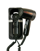 Jerdon JWM6CB 1600W Wall Mount Hair Dryer - Plug In