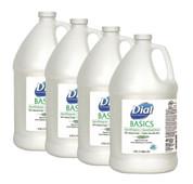 Dial Professional Basics Liquid Hand Soap Gallon, Case of 4