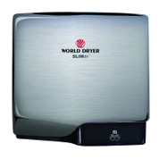 World Dryer L-971 SLIMdri Hand Dryer, Surface Mounted ADA Compliant, Universal Voltage, GreenSpec Listed, Brushed Chrome