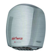 World Dryer J-971 AirForce High Speed Automatic Hand Dryer, Brushed Chrome Aluminum