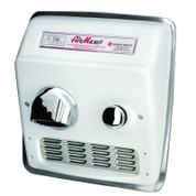 World Dryer RM5-Q974 AirMax Hand Dryer, Push Button, White Cast Iron, Recessed (ADA)