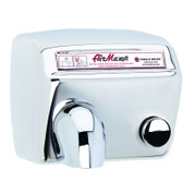 World Dryer DM5-972 AirMax Hand Dryer, Push Button, Polished Stainless Steel