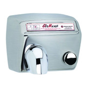 World Dryer DM5-973 AirMax Hand Dryer, Push Button, Brushed Stainless Steel
