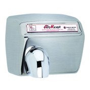 World Dryer DXM5-973 AirMax Hand Dryer, Automatic, Brushed Stainless Steel