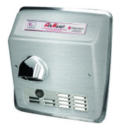 World Dryer DXRM5-Q973 AirMax Hand Dryer, Automatic, Brushed Stainless Steel, Recessed (ADA)