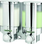Better Living 76245 AVIVA II Shower Dispenser, Translucent Bottles, Chrome