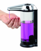 Better Living 70181 Touchless Counter & Wall Mount Clear Chamber Dispenser, 17 oz capacity