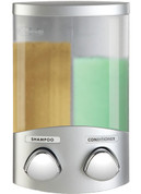 Better Living 76234-1 Euro Duo Dispenser, Translucent Container, Satin Silver