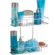 Better Living STORit 2 Tier Shower Basket, Stainless Steel
