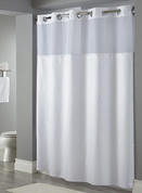 Hookless Fabric Shower Curtain, Dobby Stripe, 71x74, 12 Per Case, Price Per Each
