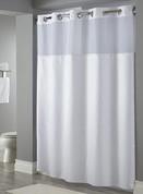 Hookless Fabric Shower Curtain, Dobby Stripe, 71x74, 12 Per Case, Price Per Each