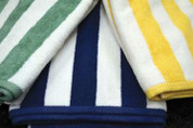Oxford Cabana Stripe Pool Towel Dobby Hemmed 35 x 70, 100% Cotton, 20 lb., 1 dozen