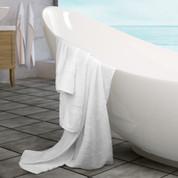 Oxford Signature Washcloth 13x13, 1.5 lb. 100% Cotton, Piano Design, Dobby Borders White, 1 dozen