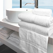 Oxford Imperiale Bath Towel 27x50, 14 lb., 100% Cotton, Dobby Border & Dobby Edge, White, 1 dozen