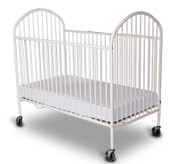 "Pinnacle™ Full Size Steel Folding Crib with 4"" Casters, Mattress Not Included, White"