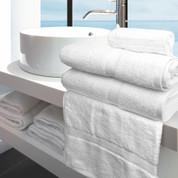 Oxford Imperiale Bath Towel 27x54, 17 lb., 100% Cotton, Dobby Border & Dobby Edge, White, 1 dozen