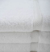 Oxford Gold Dobby Bath Mat 22x34, 9 lb. 86% Cotton 14% Polyester, Dobby Border, White, 1 dozen