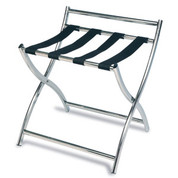 Luxury Metal Luggage Rack, Stainless Steel, Black Straps, Price Per Each, 6 Per Case