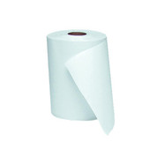 "Windsoft 1 Ply Nonperforated Hardwound Roll Towels 8"" Dia, 800 Ft, White, Case of 6"