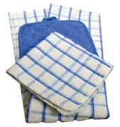 Oxford Dish Cloths, 12 x 12, 100% Cotton, 1 dozen
