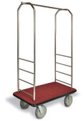 Easy-Mover Stainless Steel Series Bellman Cart, Hotel Luggage Cart