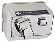 Excel Dryer 76-C Push Button Hand Dryer, Chrome, Traditional Cast Cover Series