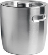 Nu Steel 2-Quart Ice Bucket with Indented Handles, Brushed Stainless Steel, 12 Per Case, Price Per Each