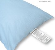 Microvent Soft Healthcare Pillow Small 16 Oz Fill, White or Blue, 12 per case, Price Per Each