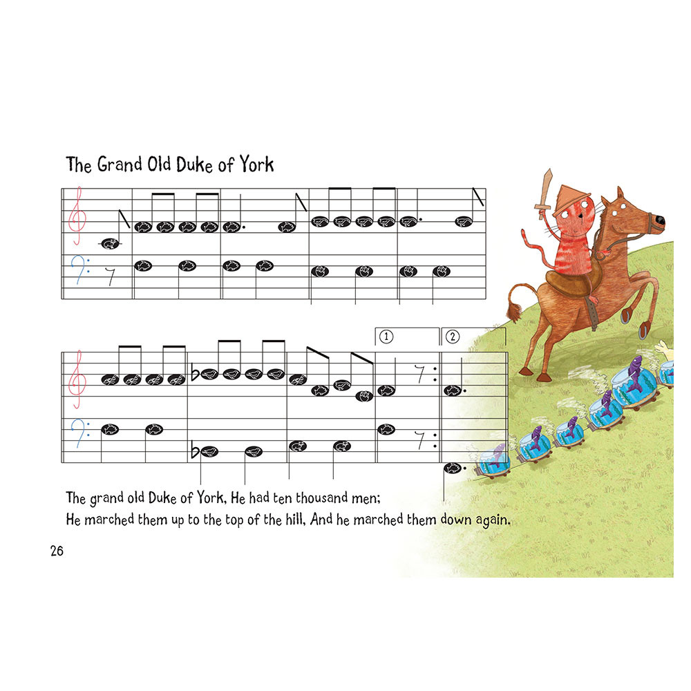 Nursery Rhyme/Famous Melodies (Animal Note Edition) Page 26