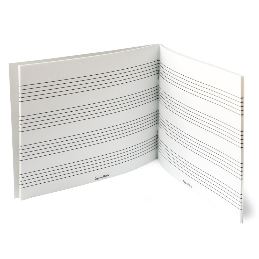 Music Manuscript Book (4 Staves) (DB-006-4) 3